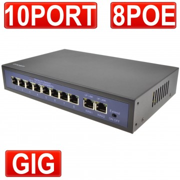 POE Switch 8 Power Over Ethernet & 2 x Gigabit WAN Ports for...