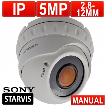 CCTV IP 5MP MANUAL VARIFOCAL SONY Starvis Starlight IMX335...