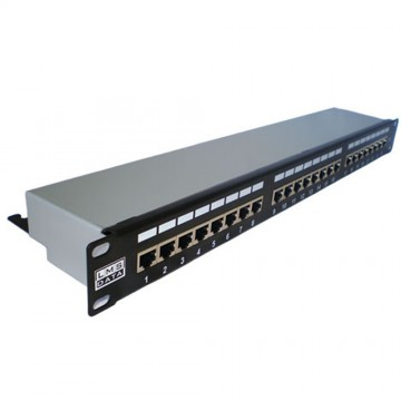 24 Port SHIELDED Network Patch Panel CAT5e STP Vertical Punchdown
