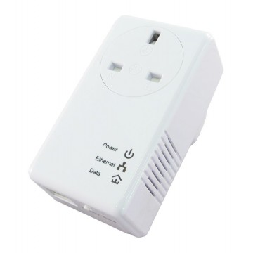 Newlink 500Mbps Single Powerline Pass Through Ethernet Homeplug