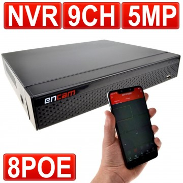 NVR 8 Channel & PoE Alimentation au-dessus de Ethernet...