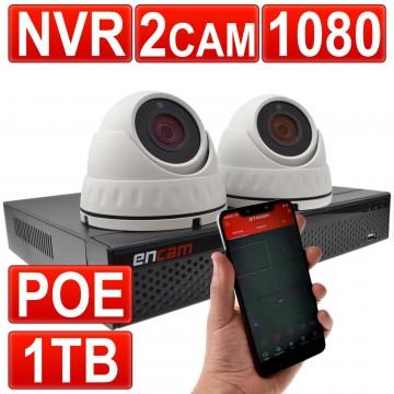 Videoüberwachung CCTV Kit 4 Channel PoE NVR Blockflöte Mit 1tb...