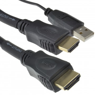 HDMI 1.4 3D TV High Speed Active Repeater Cable With Ethernet 30m