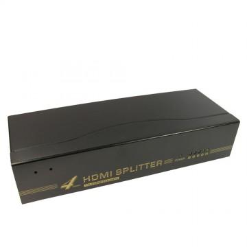 Newlink 4 Port 1.4 HDMI High Speed Splitter 1 Device to 4 TVs Powered