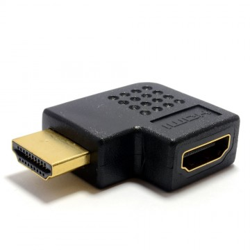 HDMI Horizontal 90 Degree Right Angled Adapter Socket to Plug