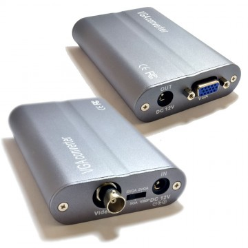 Hi-Res BNC to VGA Adapter for CCTV DVR BNC Output to SVGA Monitor