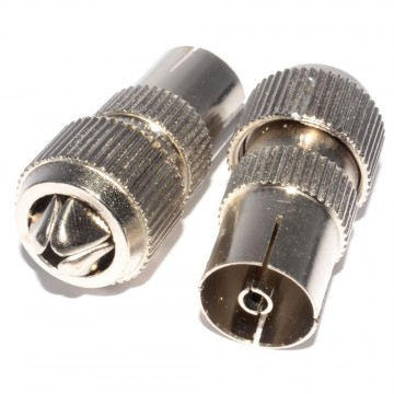 TV FM Freeview  RF Female Metal Adapters for Coaxial Cable...