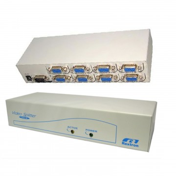 SVGA VGA Monitor Video Splitter 8 way Powered High Res 300MHz