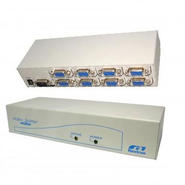 SVGA VGA Monitor Video Splitter 8 way Powered High Res 300MHz