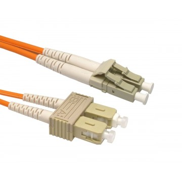 OM2 Orange Fibre Optic LC SC Duplex MM 50 125 Patch LSZH Cable 2m