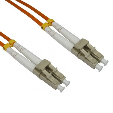 OM2 Orange Fibre Optic  LC LC Duplex MM 50 125 Patch LSZH...