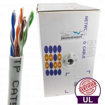 UL Certified Solid Network LAN Ethernet Cable Reel UTP CAT5e 305m