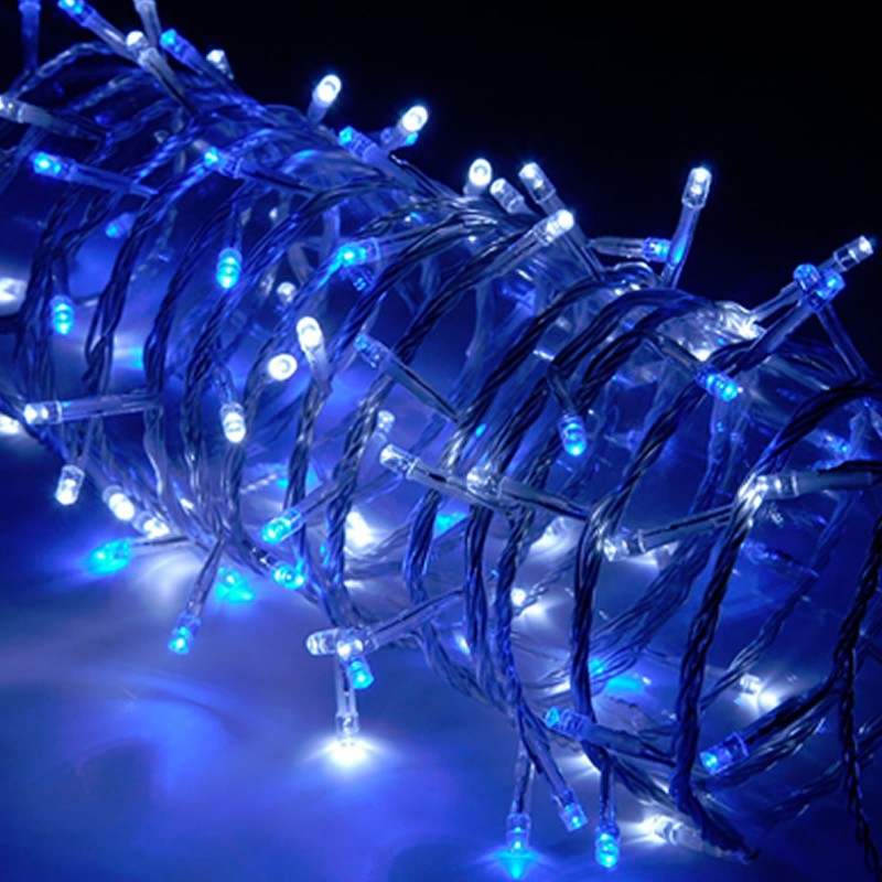 Christmas Xmas 100 x Blue & White LED String Light with Controller UK