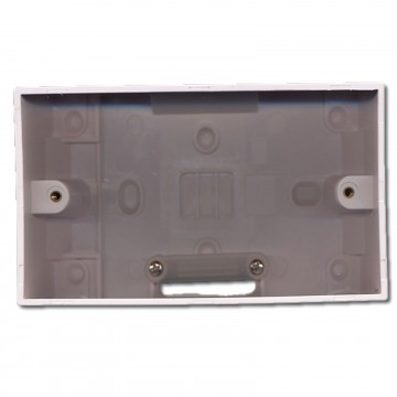 Surface Mount Double Pattress Back Box 2 Gang & Cable...