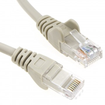 Grey Network Ethernet RJ45 Cat5E-CCA UTP PATCH 26AWG Cable Lead  2m