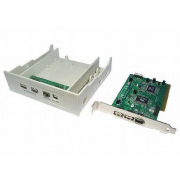 Newlink USB 2.0 & Firewire IEEE1394 Combo PCI Card & Front Panel
