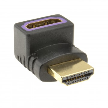HDMI Compact 90 Degree Angled Adapter Female Socket to Male Plug