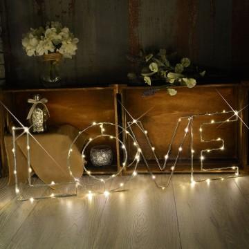 Warm White LOVE Indoor Decoration Mains Powered LED Light Large