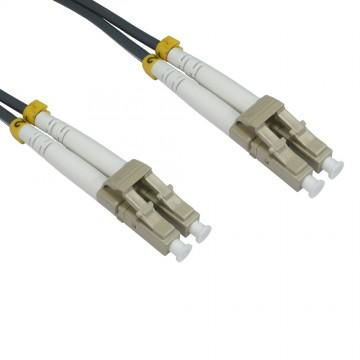OM1 Grey Fibre Optic LC LC Duplex MM 62.5 125 Patch LSZH Cable 1m