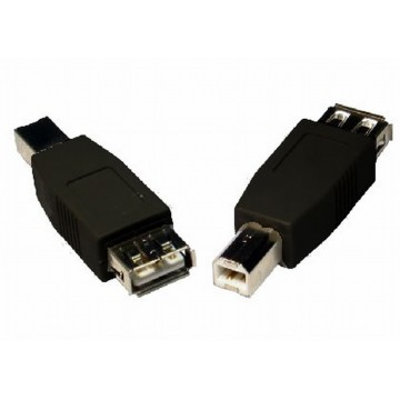 USB 2.0 Compact Printer Adapter Converter A female to B male...