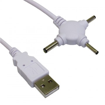 Triple Head USB Power Cable DC 2.5mm 3mm & 3.5mm DC Jack 1.5m