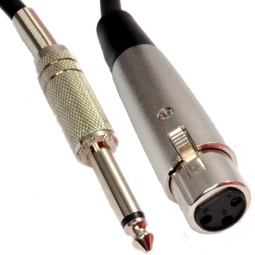 XLR 3 Pin Socket to 6.35mm Mono Jack Plug Microphone Audio...