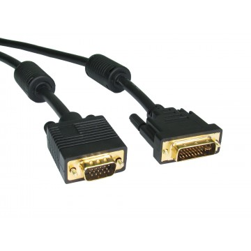 24 + 5 DVI-I Male to VGA Male 15 Pin Video Cable 2m