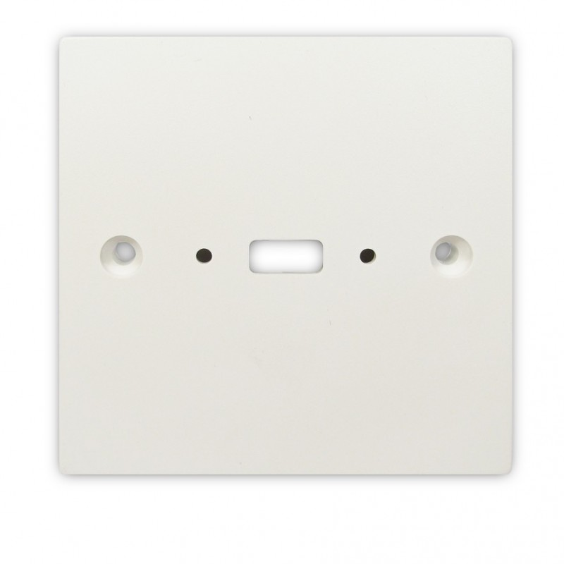 Pre Drilled Mounting Wall Faceplate for USB  Panel Mount Stub White