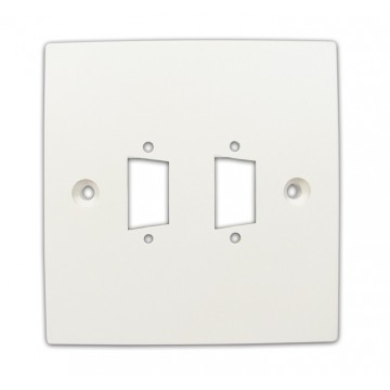 Pre Drilled Mounting Wall Faceplate for TWIN SVGA Panel Mount...