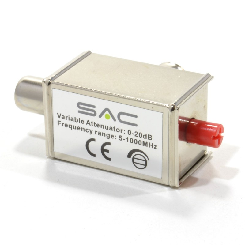 SAC Variable Attenuator 0-20dB Frequency Range 5-100MHz Adapter