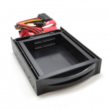 3.5 Dual Drive Bay Mounting Chassis for 2.5 SATA SSD/HDD Disk...