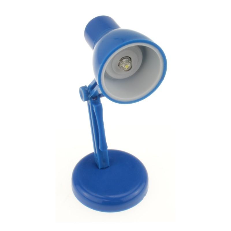 Miniature 10cm Desk lamp Reading Book Swivel & Tilt Night Light Blue