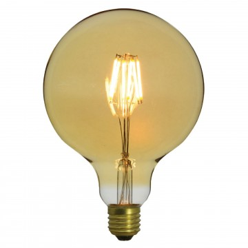 G125 LED Filament Bulb 4W Dimmable Warm Glow Decor Light Bulb E27