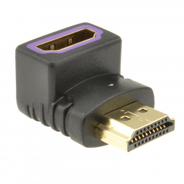 HDMI Compact 270 Degree Angled Adapter Female Socket to Male Plug