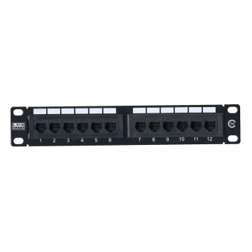 Cat5E 10 inch Patch Panel 12 Port Rack Mountable MINI SOHO