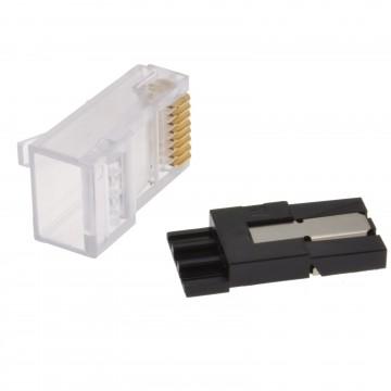 Cat 6 Slit Lock Advanced Crimp with Cable Management RJ45 End Plug