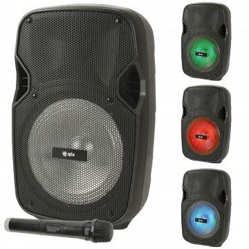 Portable PA Party Disco Speaker Bluetooth LED & Wireless Mic...
