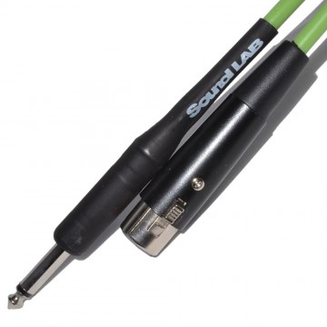 PRO Microphone Cable XLR Female to Mono Jack 6m Green