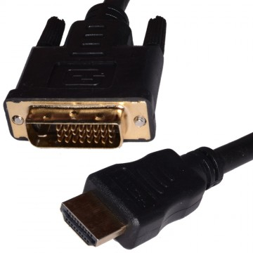 DVI-D 24+1pin Male to HDMI Digital Video Cable Lead 1.8m