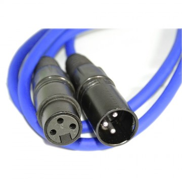 Balanced XLR Microphone Lead Male to Female Audio Cable BLUE 1.5m