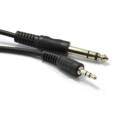 3.5mm Stereo Jack Plug to 6.35mm TRS Balanced  Plug Cable 1.8m