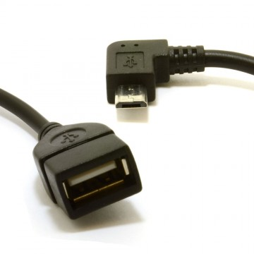 OTG USB On The Go Host Cable USB 2.0 A Female to Right Angle...