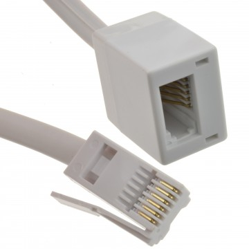 BT Telephone Extension Lead For Office & Home Full 6 Wire...