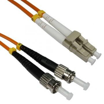 OM2 Orange Fibre Optic LC ST 50 125 Duplex MM Patch LSZH Cable 2m