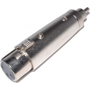 XLR Female Socket to RCA Phono Plug Adapter