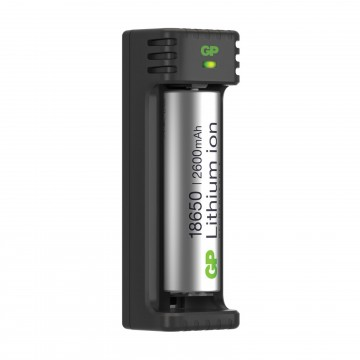 GP Lithium ION 5V 18650 Rechargeable Battery Cell 2600mAh & USB Charger