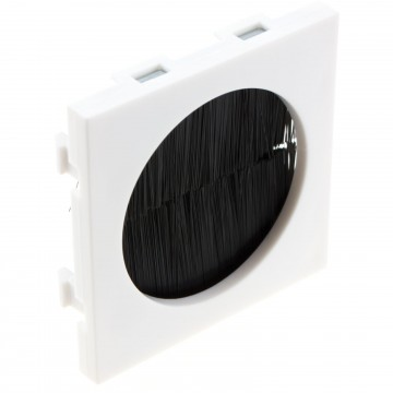 Brush Filled Circle Aperture Blank for Wall/Face Plate Cable Tidy Module