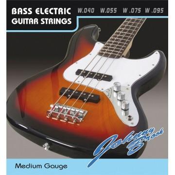 Set of 4 Johnny Brook G D A E Bass Guitar Steel Strings Medium Gauge