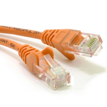 Orange Network Ethernet RJ45 Cat5E-CCA UTP PATCH 26AWG Cable...