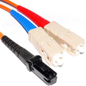 OM1 Orange Fibre Optic MTRJ SC Duplex MM 62.5 125 Patch LSZH Cable 2m